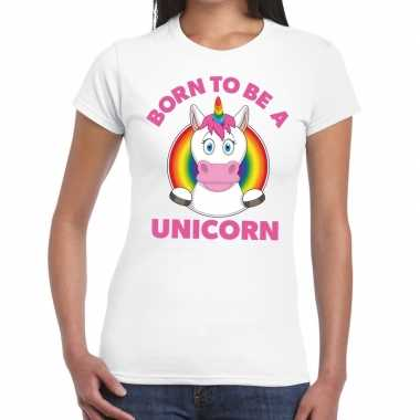 Gay pride born to be a unicorn t shirt wit dames