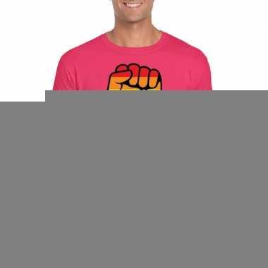 Gay pride respect lgbt shirt roze heren