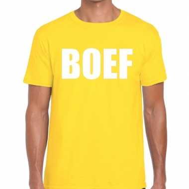 Geel boef fun t shirt heren