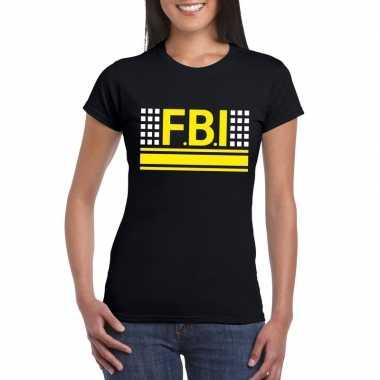 Geheim agent shirt zwart dames