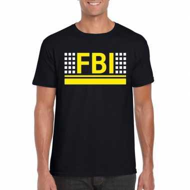 Geheim agent shirt zwart heren