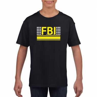 Geheim agent shirt zwart kinderen