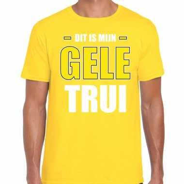 Gele trui t-shirt geel heren wieler tour wielerwedstrijd trui shirt geel