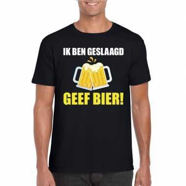 Geslaagd t shirt zwart bier heren
