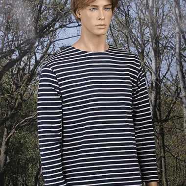 Gestreept gondelier shirt lange mouw