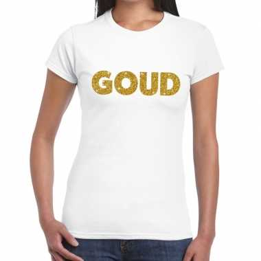 Goud fun t shirt wit dames