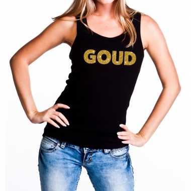 Goud fun tanktop / mouwloos shirt zwart dames