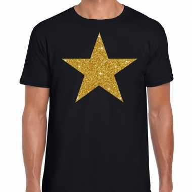 Gouden ster fun t shirt zwart heren