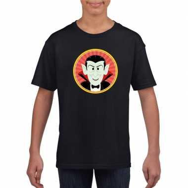 Graaf dracula halloween t shirt zwart jongens meisjes