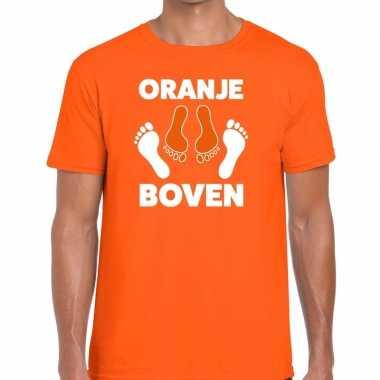 Grappig oranje boven t shirt koningsdag of ek/wk heren