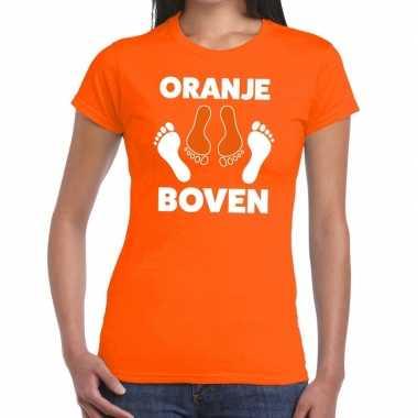 Grappig oranje boven t shirt koningsdag of ek/wk vrouwen
