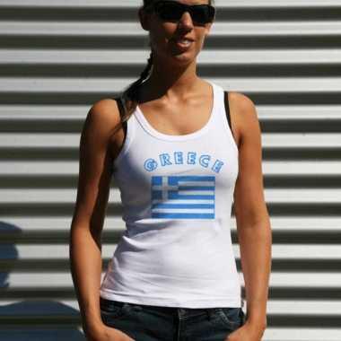 Griekse vlag tanktop/ t shirt dames