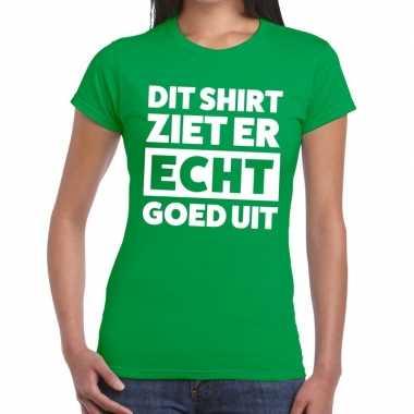 Groen feest t shirt dit shirt ziet er echt goed uit groen dames