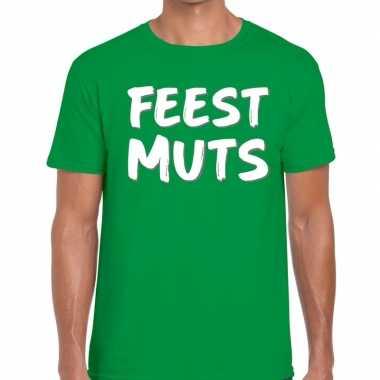 Groen feestmuts shirt heren