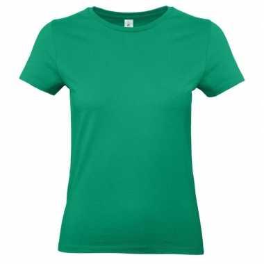 Groene shirt ronde hals dames