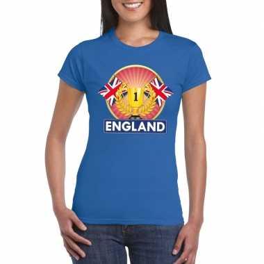 Groot brittannie/ engeland kampioen shirt blauw dames