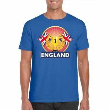 Groot brittannie/ engeland kampioen shirt blauw heren
