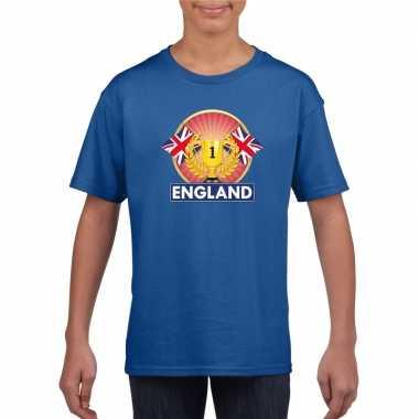 Groot brittannie/ engeland kampioen shirt blauw kinderen