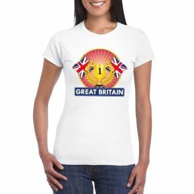 Groot brittannie/ engeland kampioen shirt wit dames