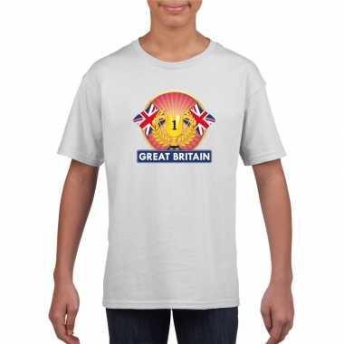 Groot brittannie/ engeland kampioen shirt wit kinderen