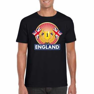 Groot brittannie/engeland kampioen shirt zwart heren