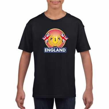 Groot brittannie/ engeland kampioen shirt zwart kinderen