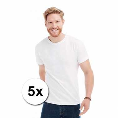 Groothandel witte t-shirts 5 stuks
