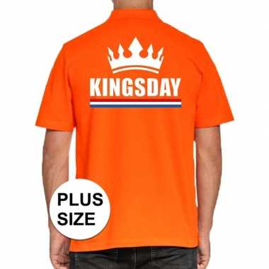 Grote maten koningsdag polo t shirt oranje kingsday heren