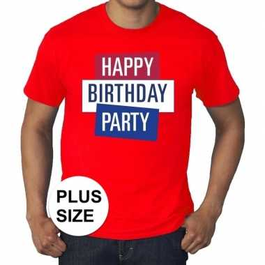 Grote maten officieel toppers concert happy birthday party t shirt ro