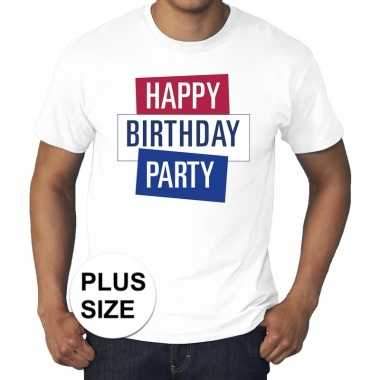 Grote maten officieel toppers concert happy birthday party t shirt wi