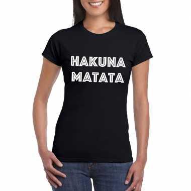 Hakuna matata fun t-shirt zwart dames