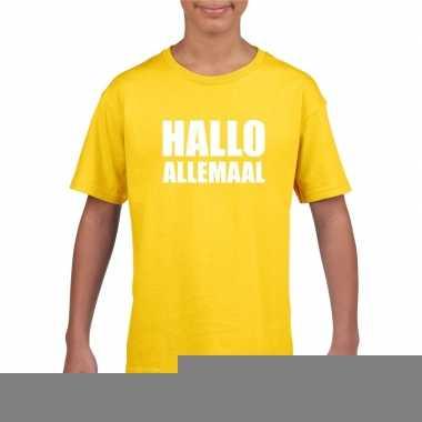 Hallo allemaal fun t shirt geel kinderen