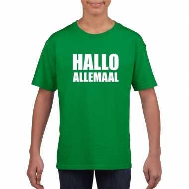 Hallo allemaal fun t shirt groen kinderen