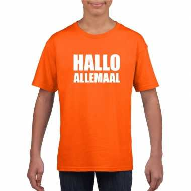 Hallo allemaal fun t shirt oranje kinderen