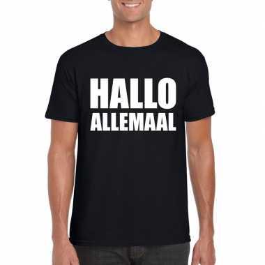 Hallo allemaal fun t-shirt zwart heren