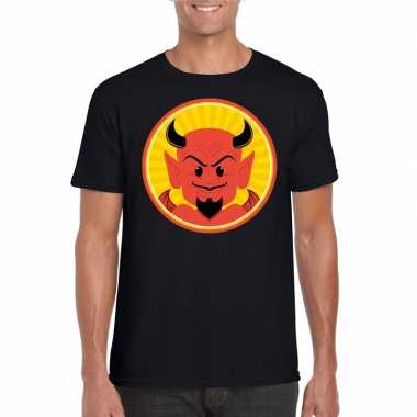 Halloween shirt zwart heren rode duivels