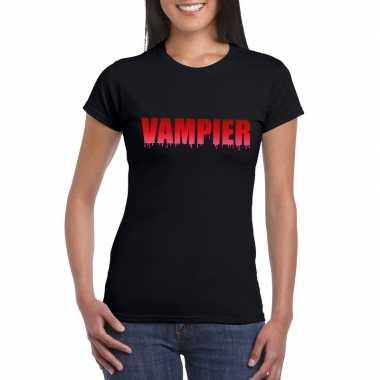 Halloween vampier shirt zwart dames