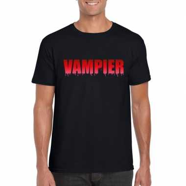 Halloween vampier shirt zwart heren