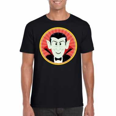 Halloween vampieren shirt zwart heren