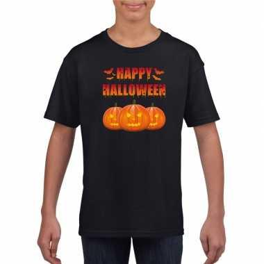 Happy halloween t shirt zwart jongens meisjes