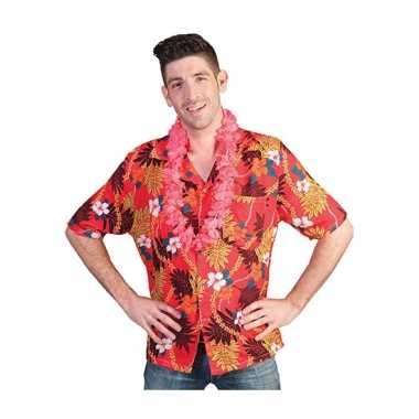 Hawaii blouse/shirt rood heren