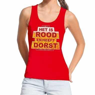 Het is rood heeft dorst tanktop / mouwloos shirt rood dames