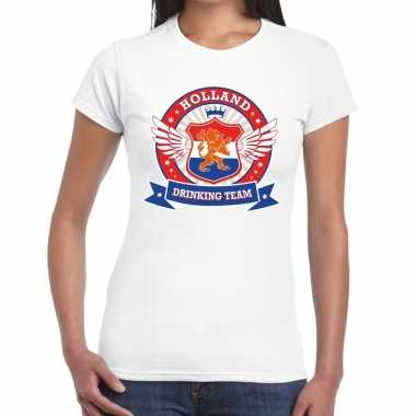 Holland drinking team t shirt wit dames