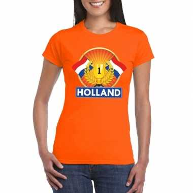 Holland kampioen shirt oranje dames
