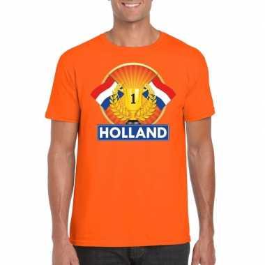 Holland kampioen shirt oranje heren