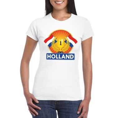 Holland kampioen shirt wit dames