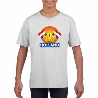 Holland kampioen shirt wit kinderen