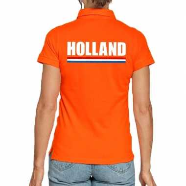 Holland polo t shirt oranje kingsday dames