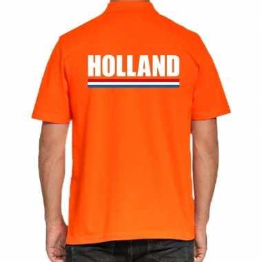 Holland polo t shirt oranje kingsday heren