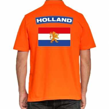 Holland supporter polo t shirt oranje kingsday heren